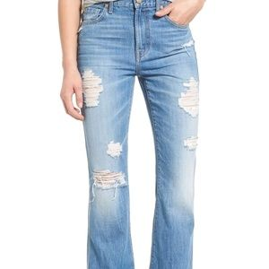 7 for all Mankind Distressed Hi-waist bootcut jean